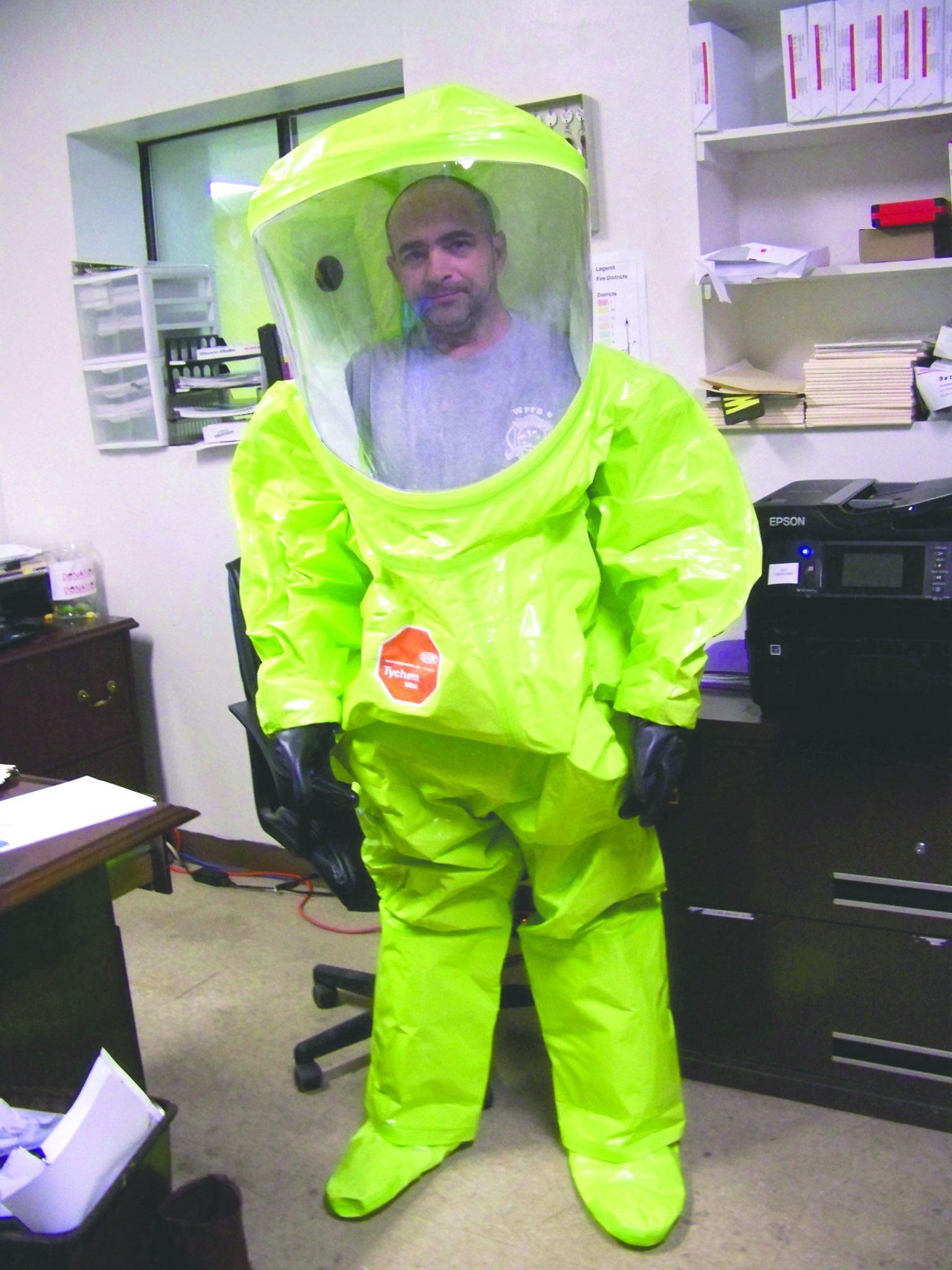 Calumet donates HAZMAT suits to Cotton Valley FD   Minden Press-Herald